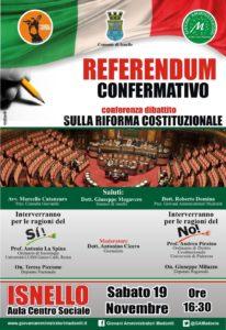 locandina isnello riforma costituzionale